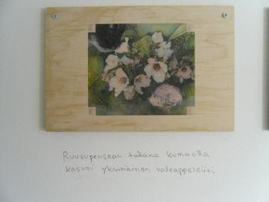 Kuva näyttelyn osasta Lastenhuone.