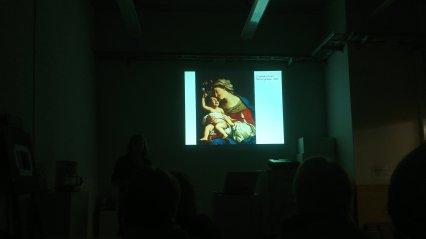 Elisabetta Siranin maalaus luentodiassa.